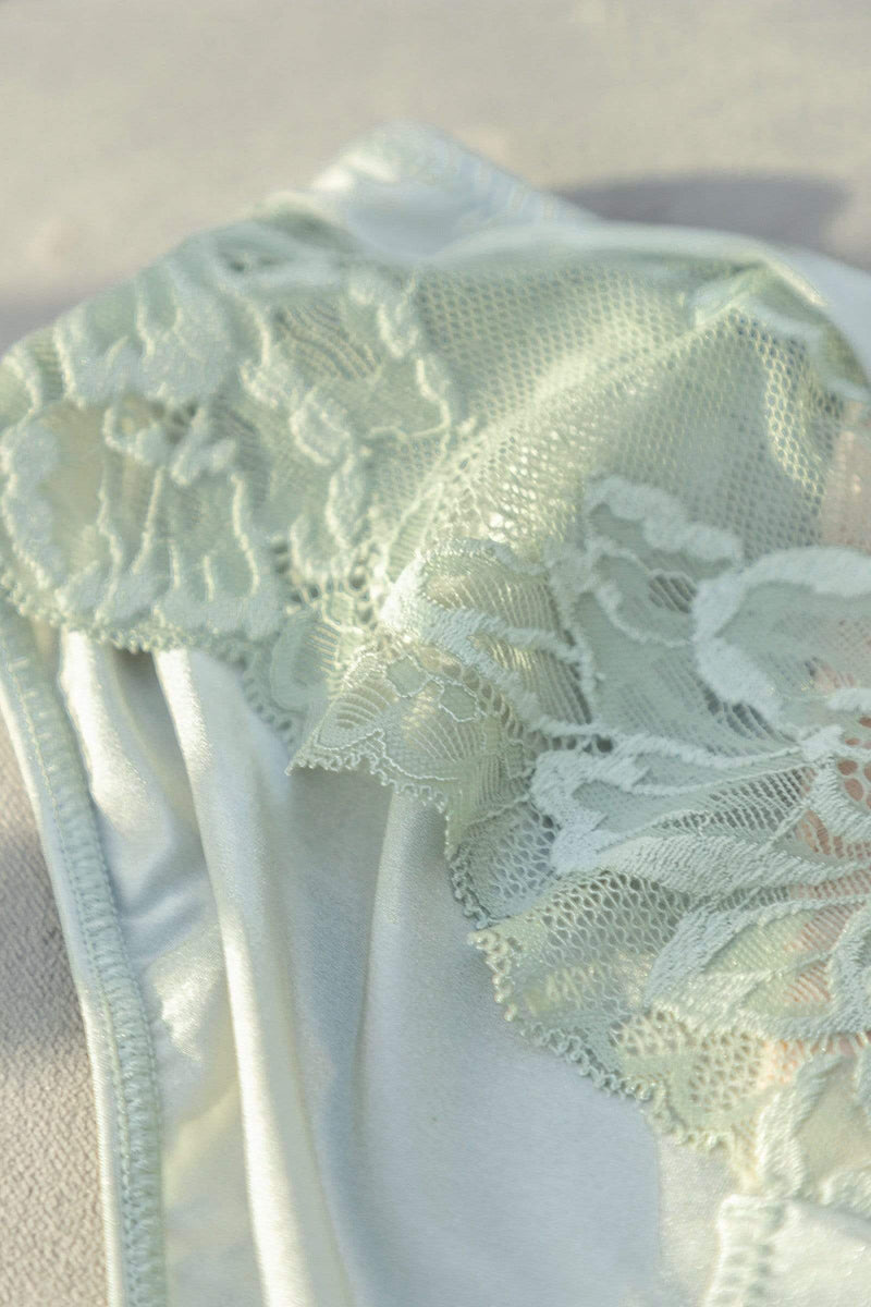 Sage Floral Lace Hipster
