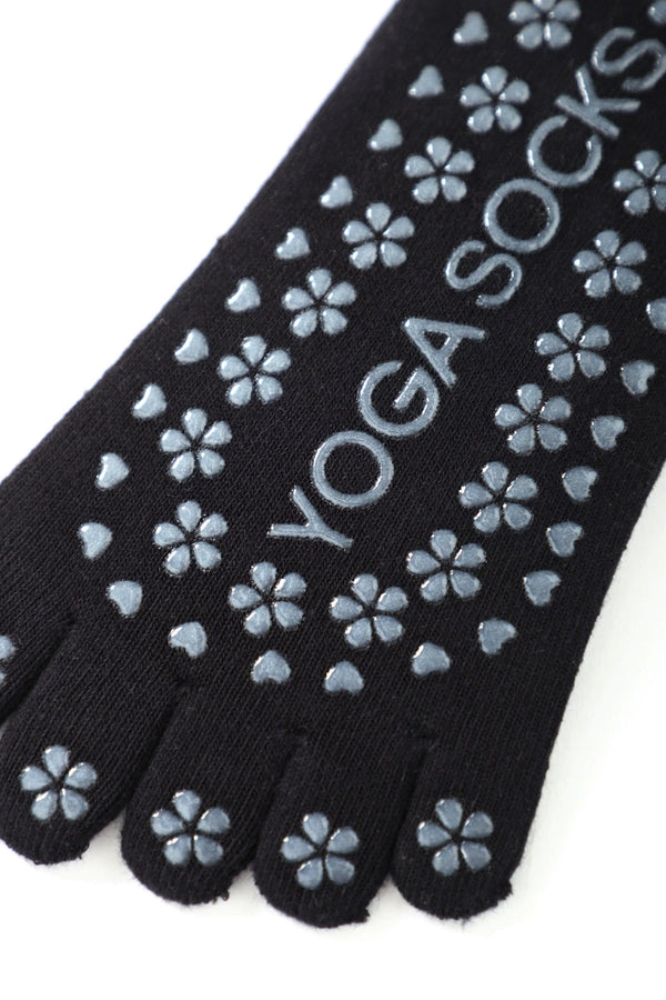 Carbon Black Grip Toe Socks