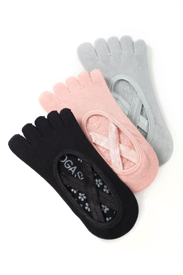3-Pack Grip Toe Socks