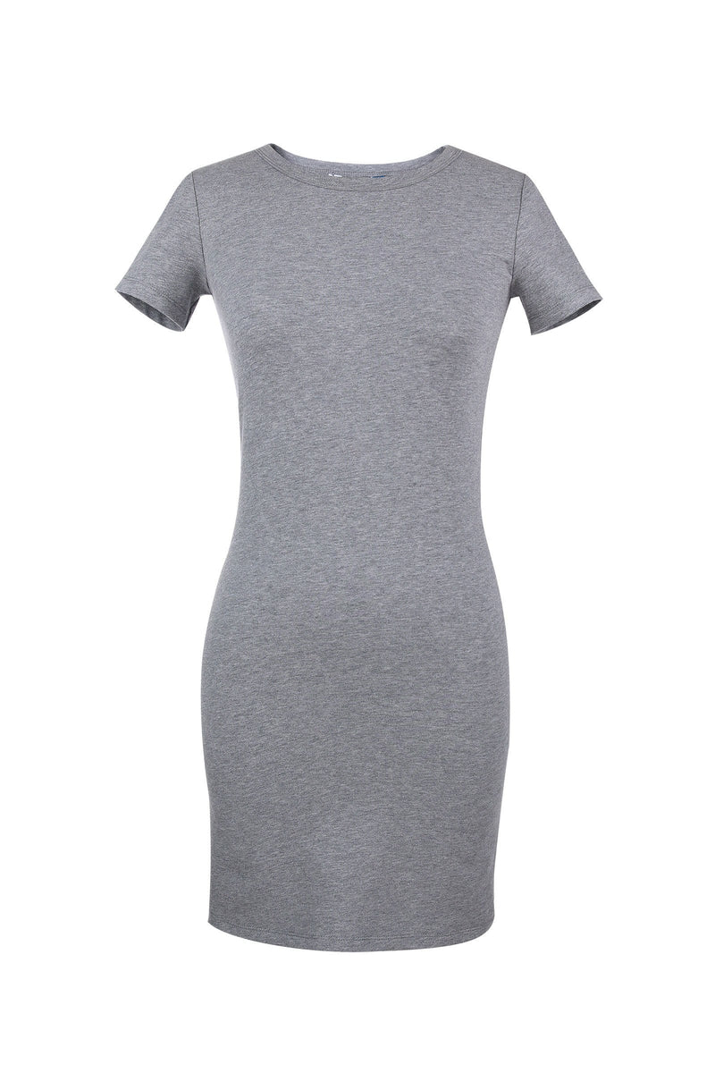Melanie Grey T-Shirt Dress