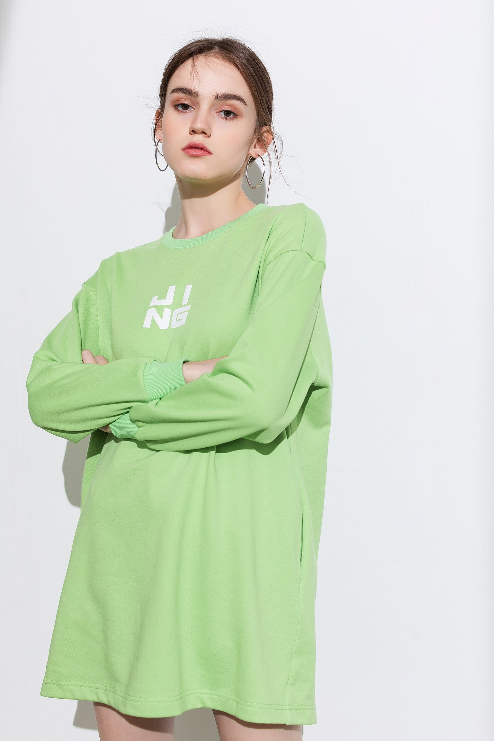 Wordplay Lime Sweater Dress