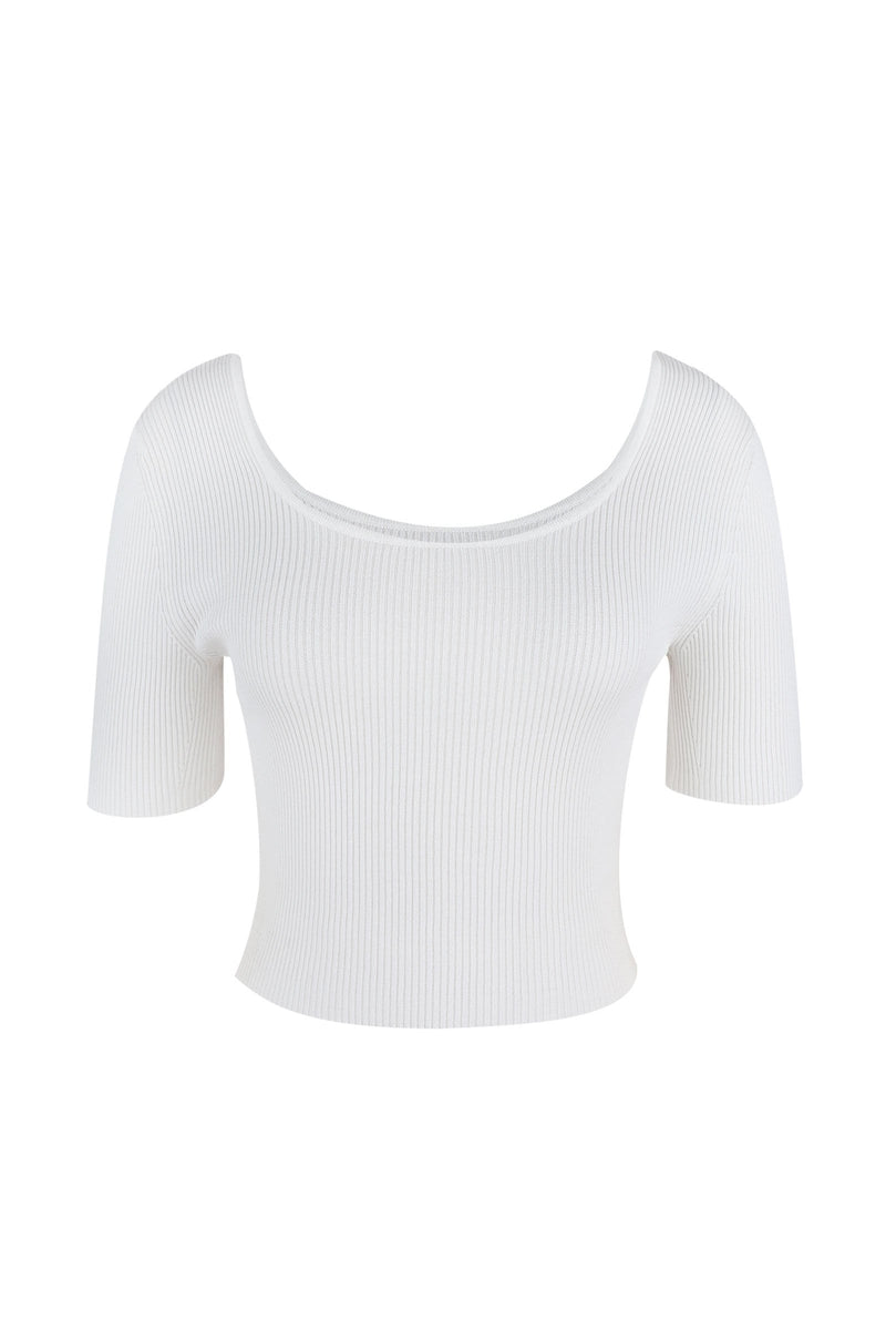 Essential White Scoop Neck Tee