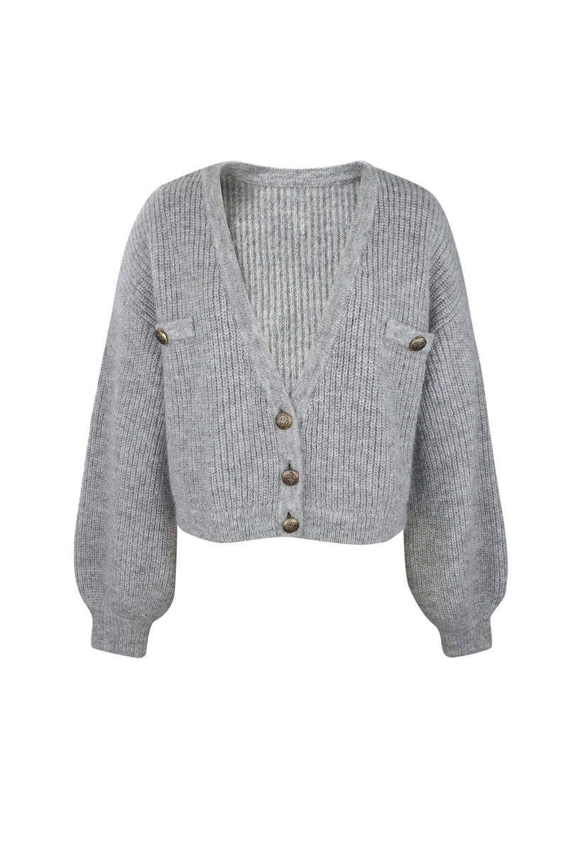 Elsie Grey Oversized Cardigan
