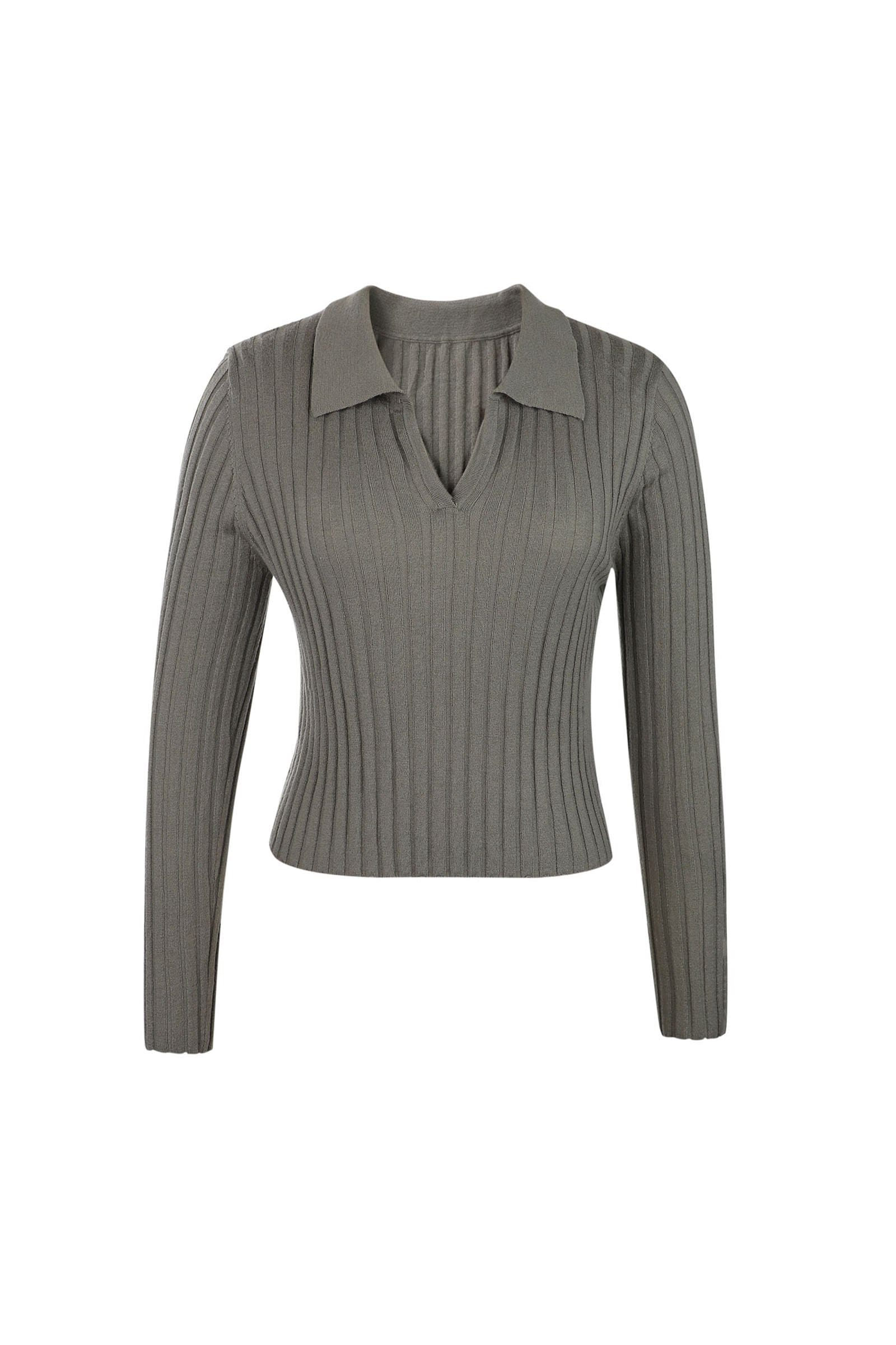 Coco Olive Green Ribbed Sweater
