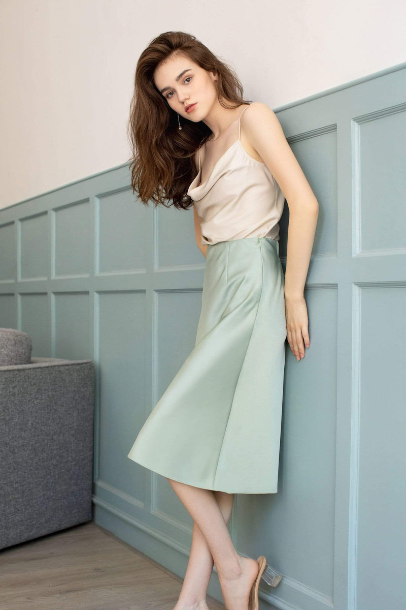 Pistachio Green Slip Skirt