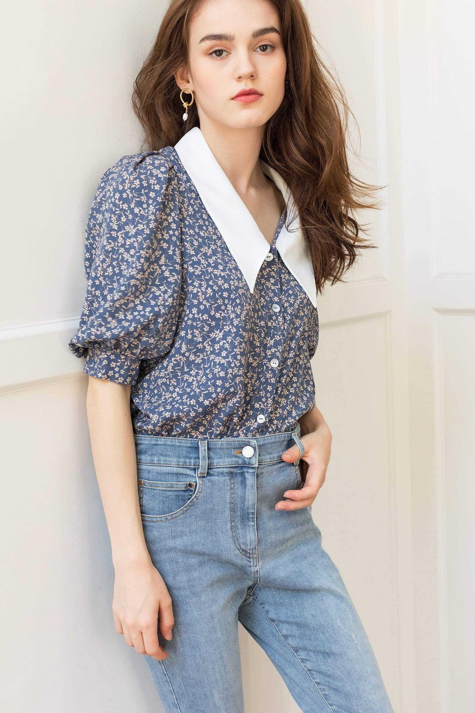 Wellesley Floral Collar Blouse