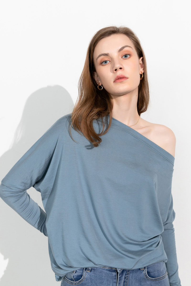Essential Blue Boatneck Tee