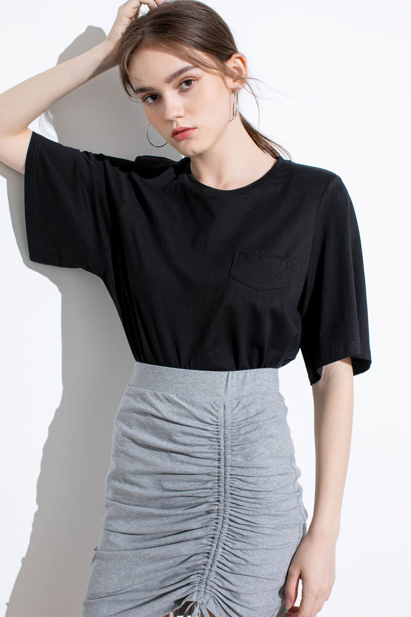 Essential Black Wide Sleeve T-Shirt