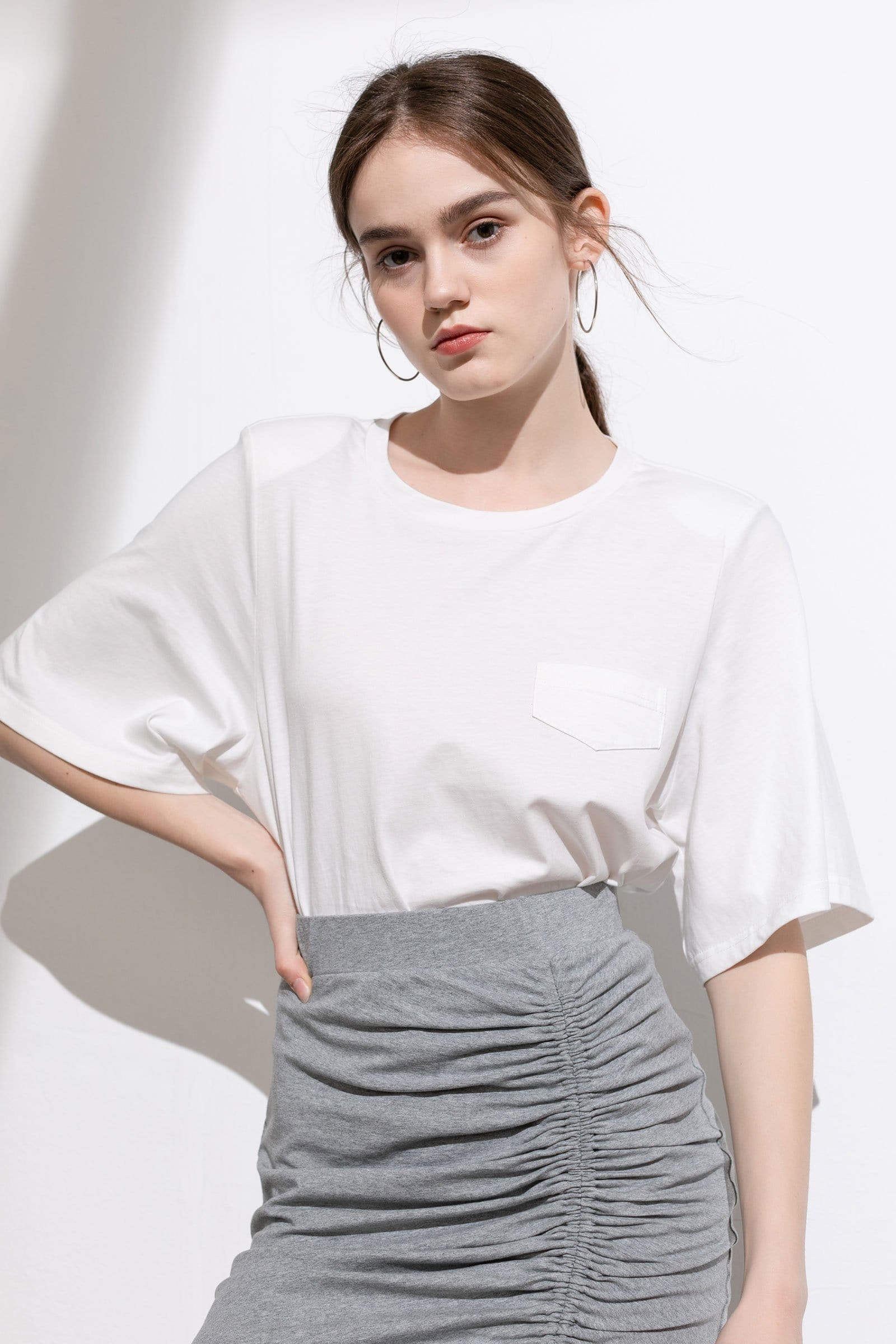 Essential White Wide Sleeve T-Shirt