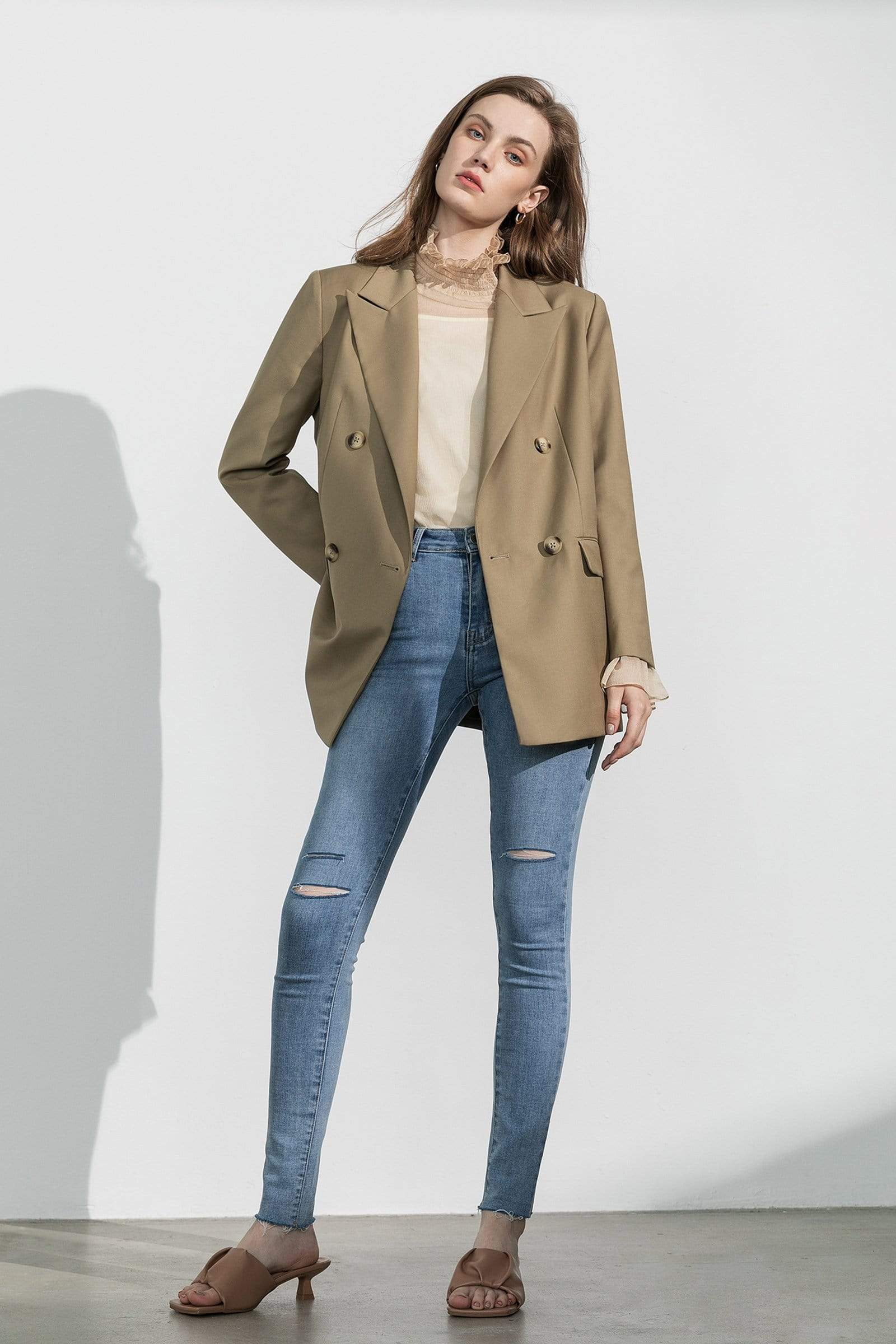 Business Essential Tawny Double-Breasted Blazer