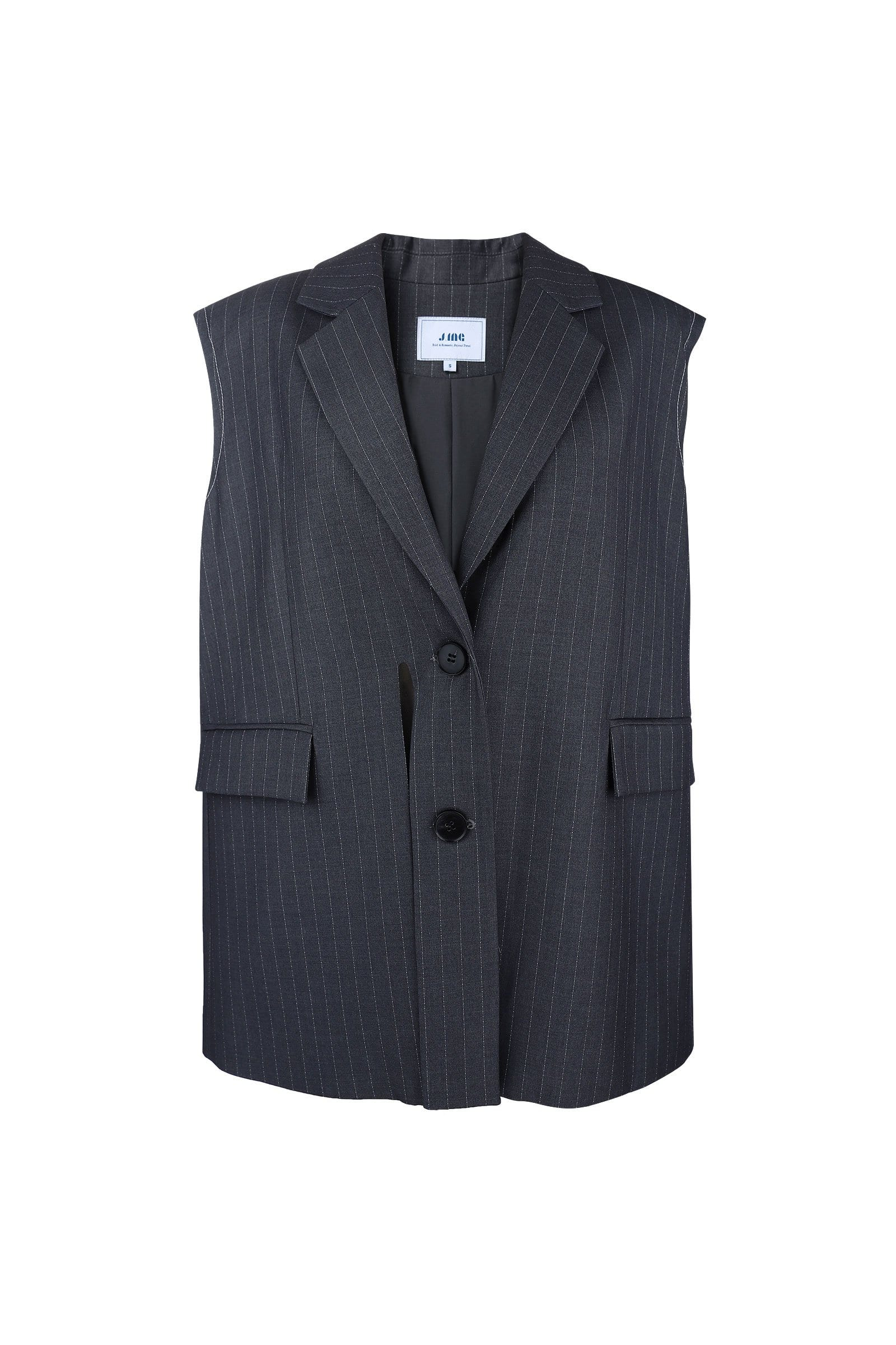 Winston Charcoal Pinstriped Vest