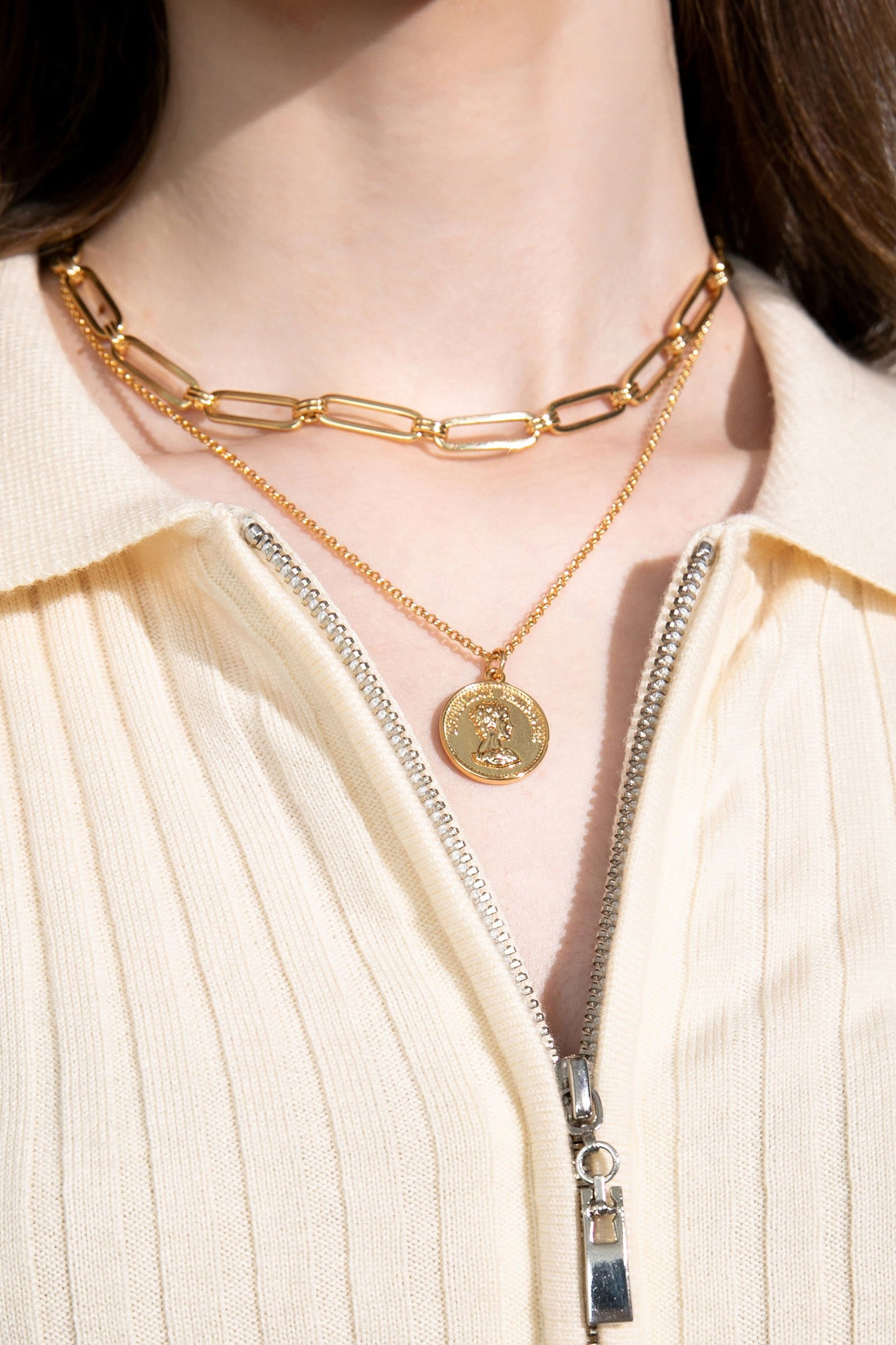 Ruta Gold Chain Link Necklace