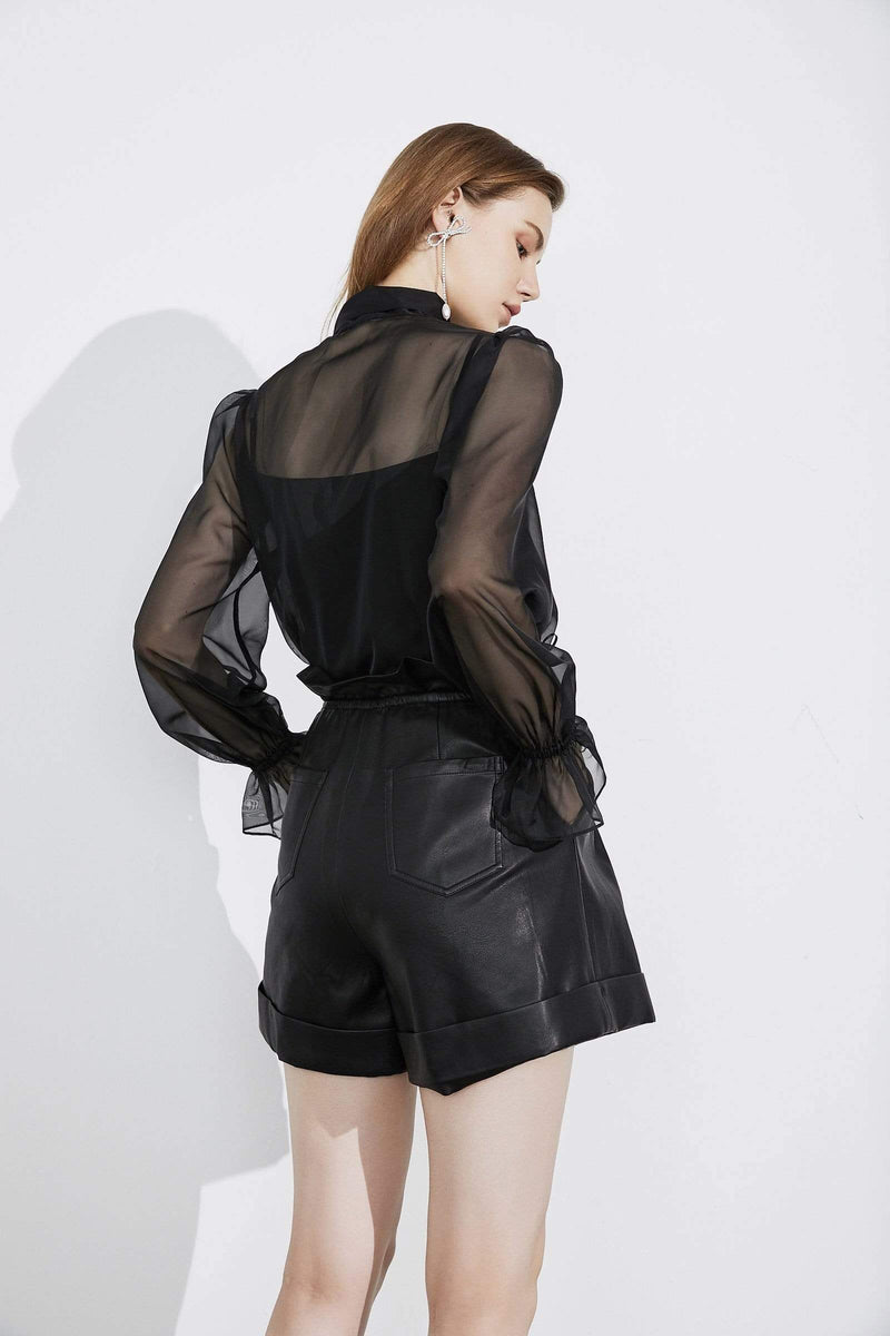 Miriam Black Sheer Blouse