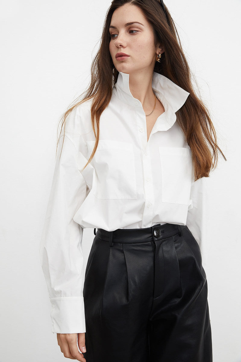 Essential White Button-Up Shirt
