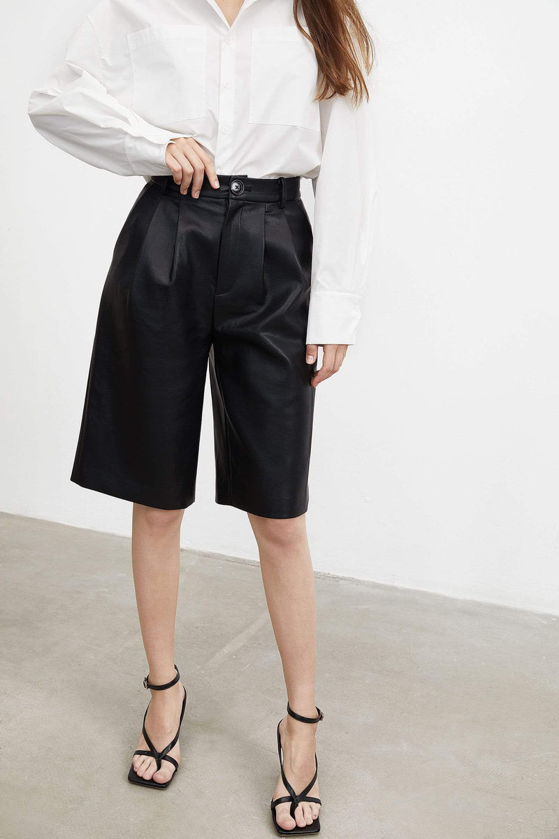 Sleek Black Bermuda Shorts