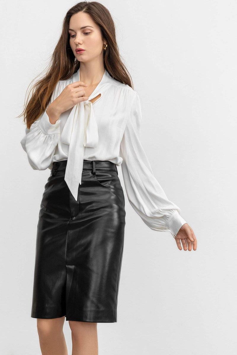 Florence White Tie-Up Blouse