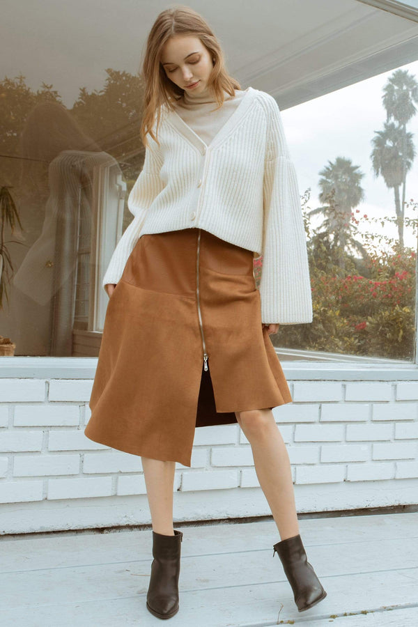 Angie Brown Midi Skirt