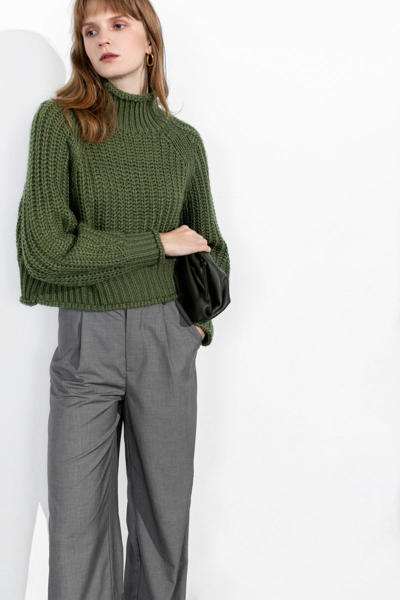 Olivia Green Chunky Sweater