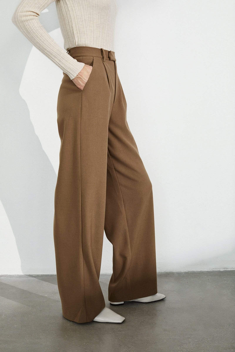 Essential Camel Wide Trousers
