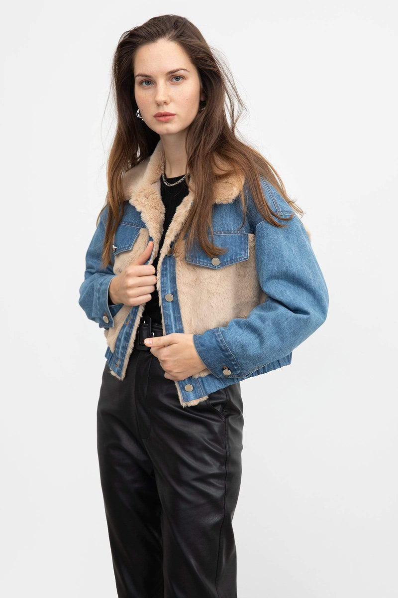Multi Sherpa Denim Jacket