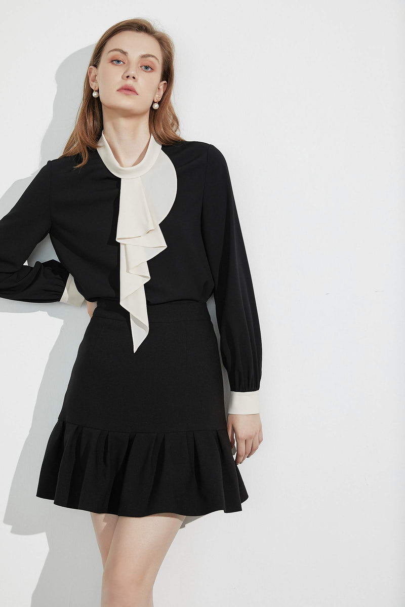 Posie Ruffle Contrast Blouse