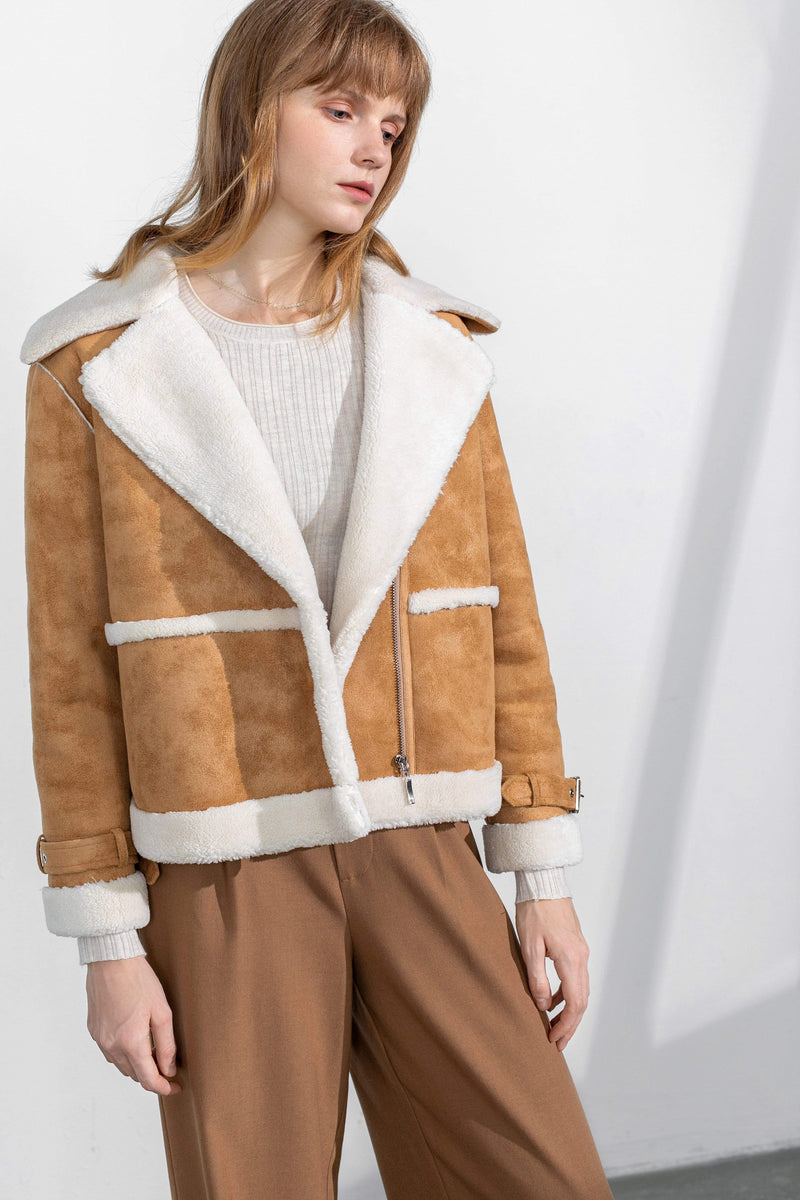 Sherry Camel Biker Jacket