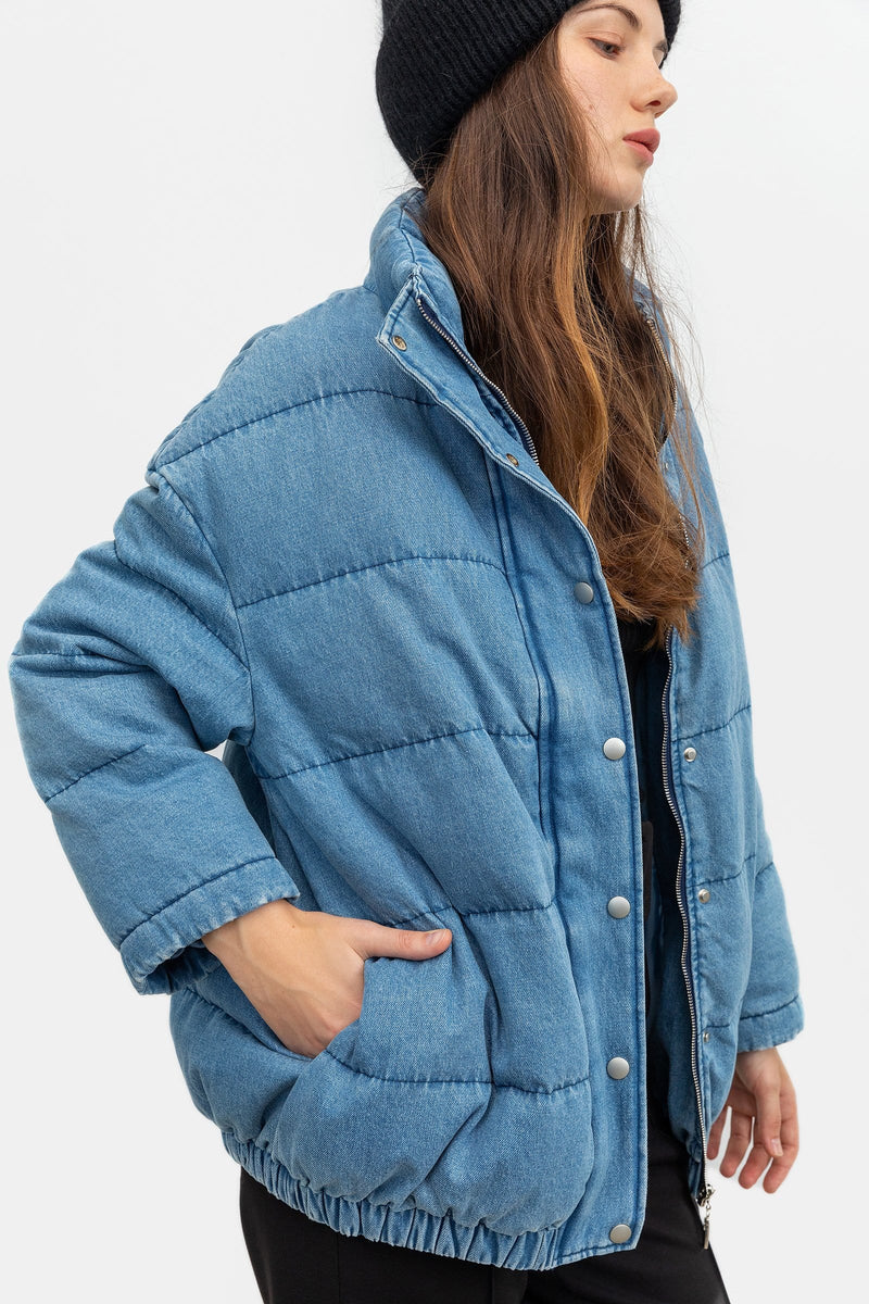 Ellie Blue Puffer Jacket