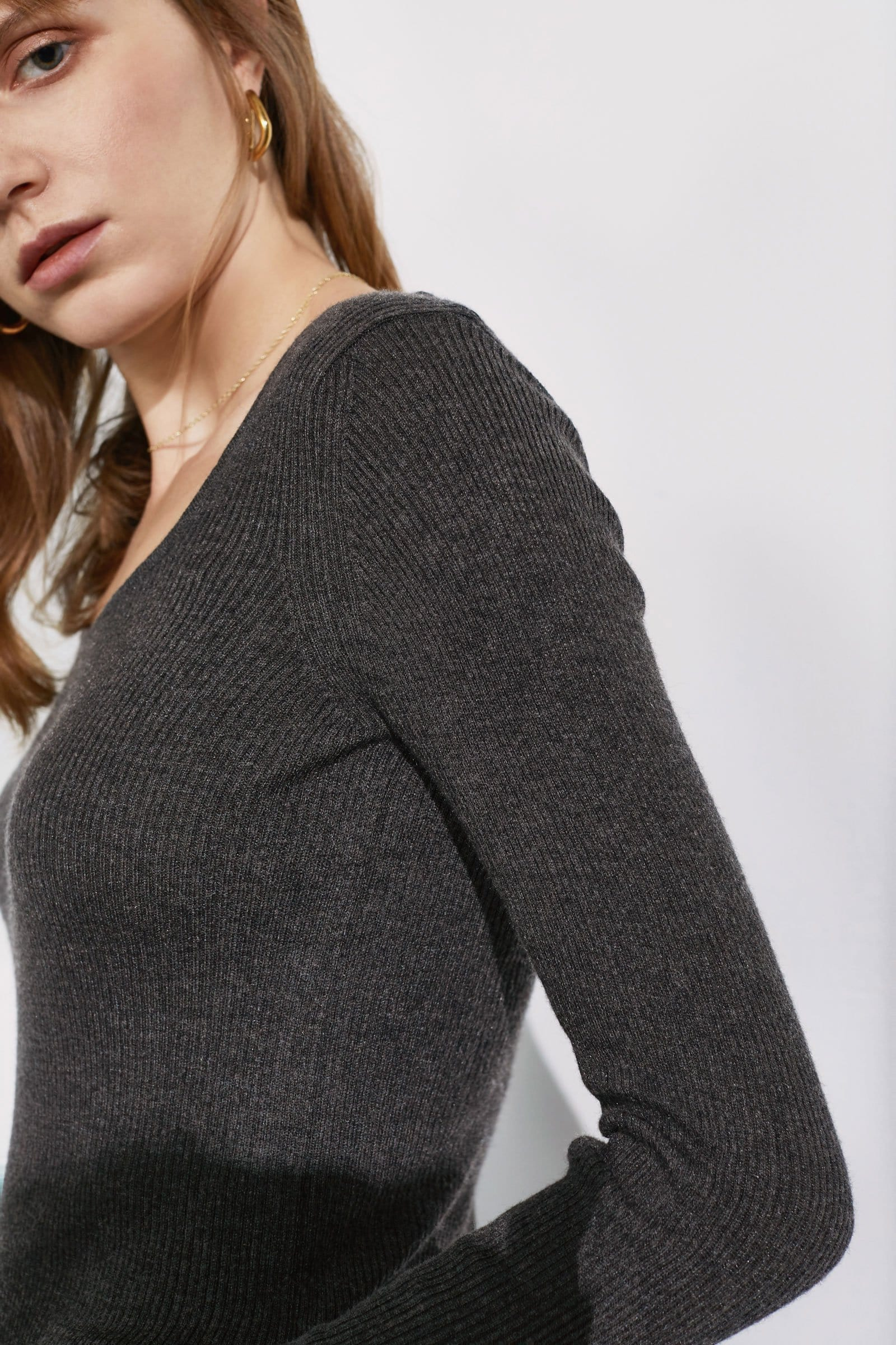 Essential Grey Round Neck Sweater