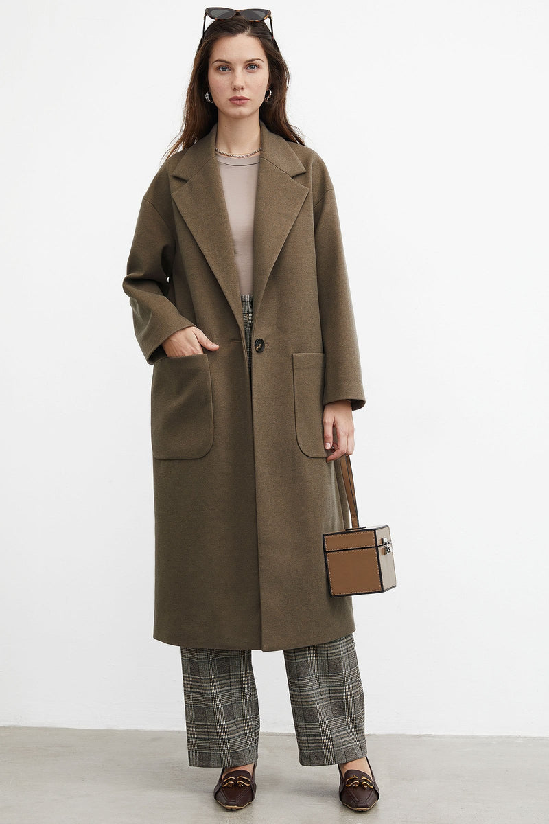 Lana Brown Oversized Coat