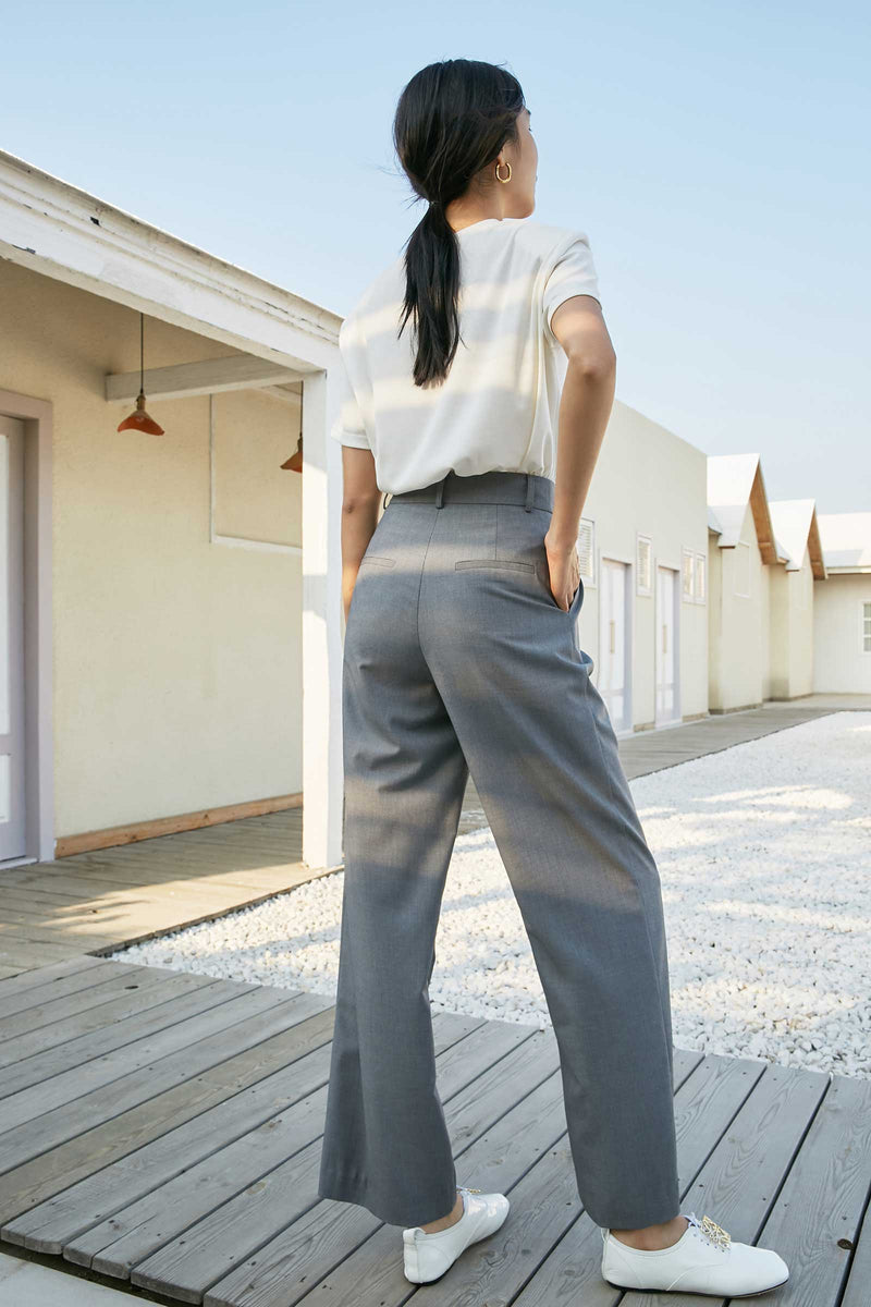 Jane Plain Grey Trousers