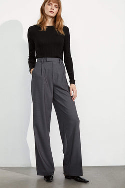 Essential Charcoal Wide Trousers