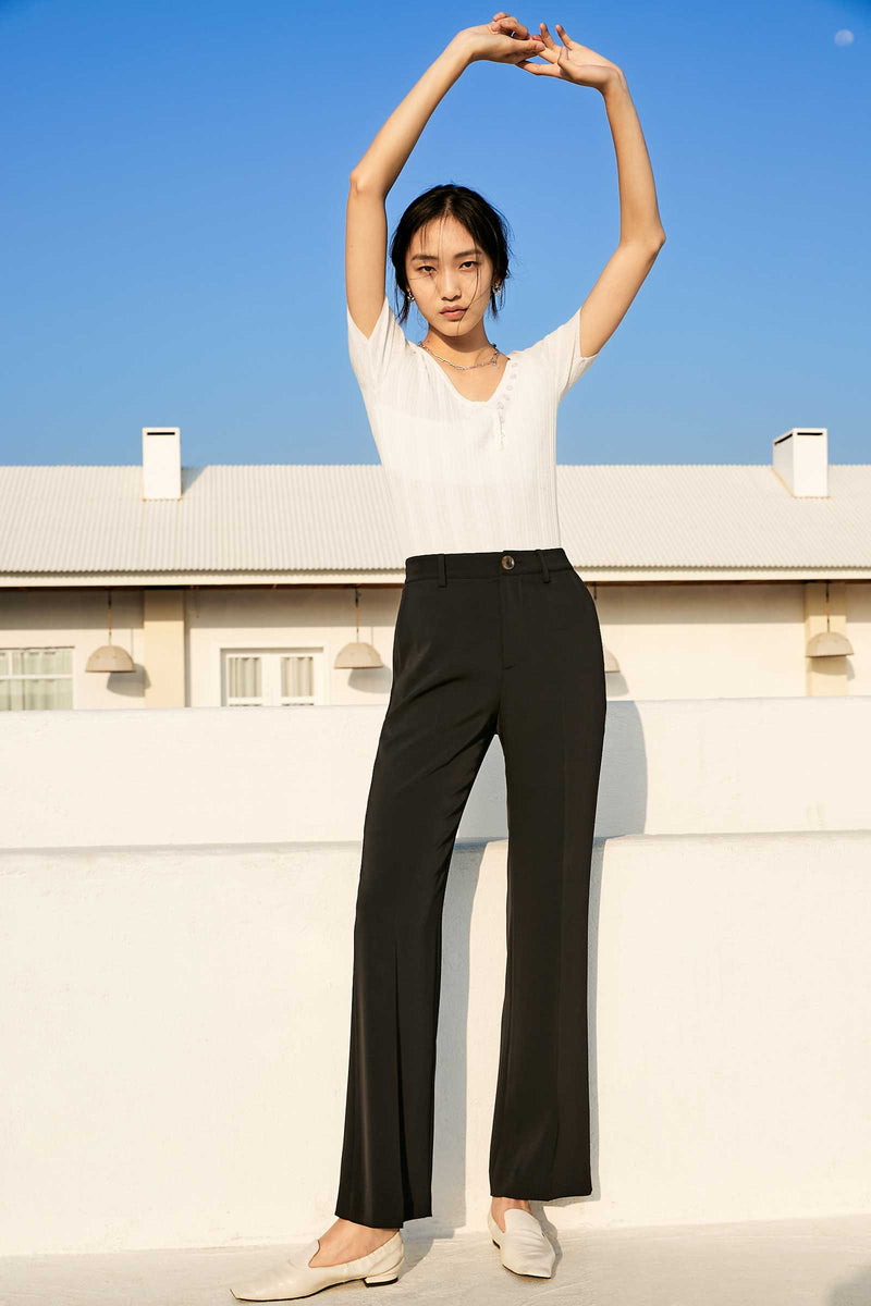 Sydney Black Wide Leg Trousers