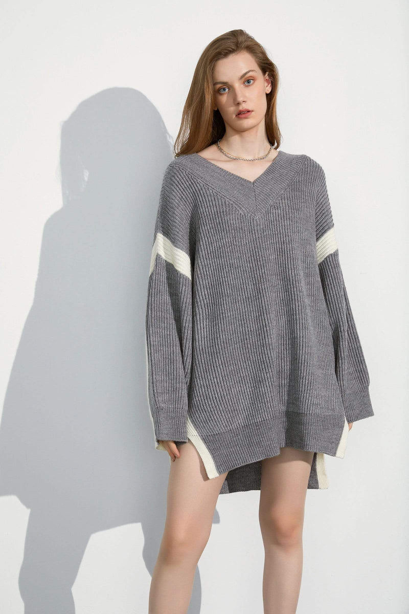 Sabine Grey Oversized Sweater