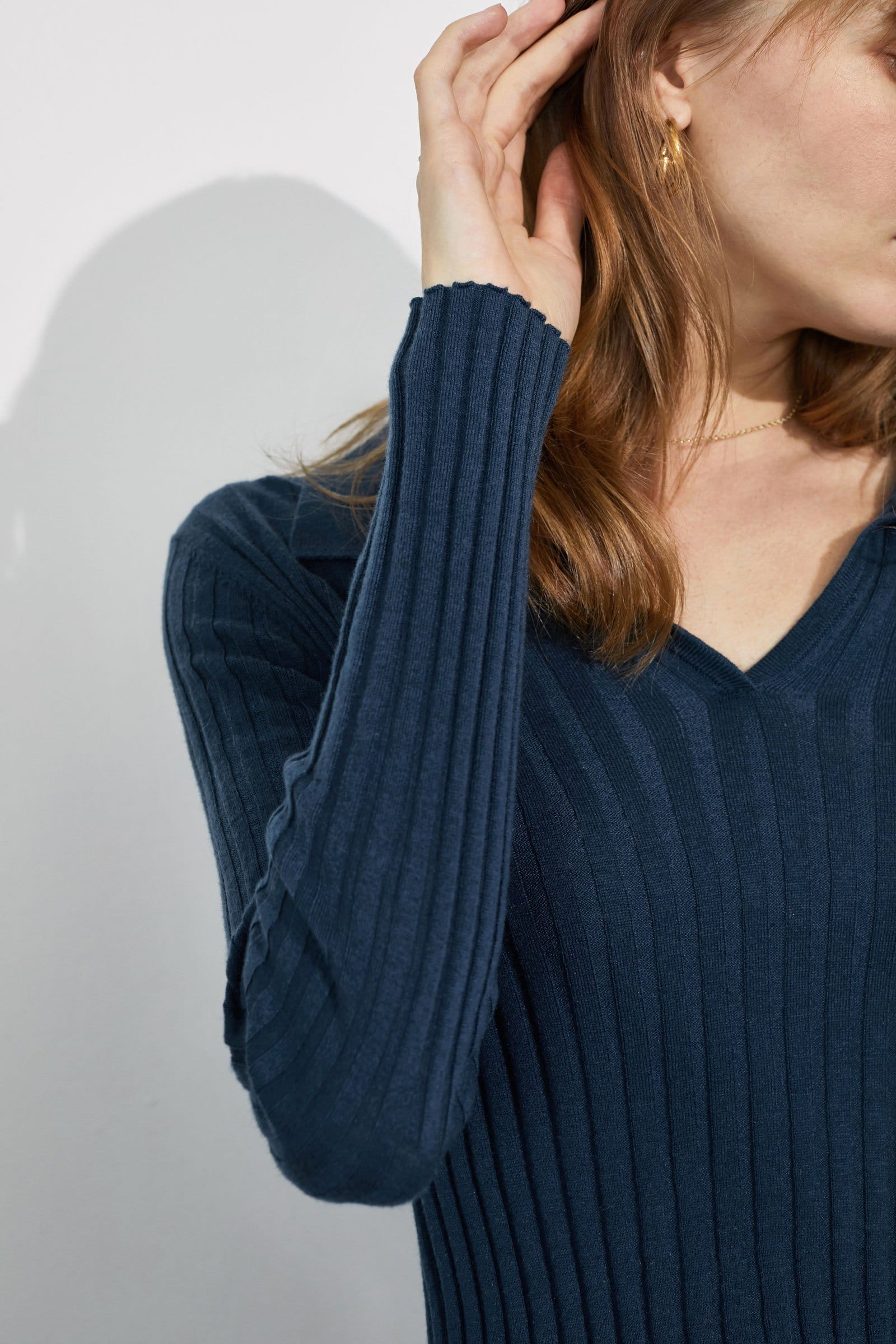 Coco Blue Ribbed Sweater