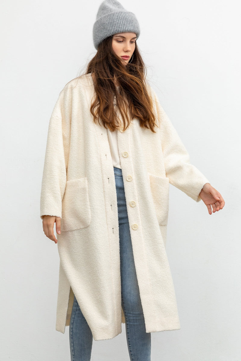 Melodie Ivory Longline Duster
