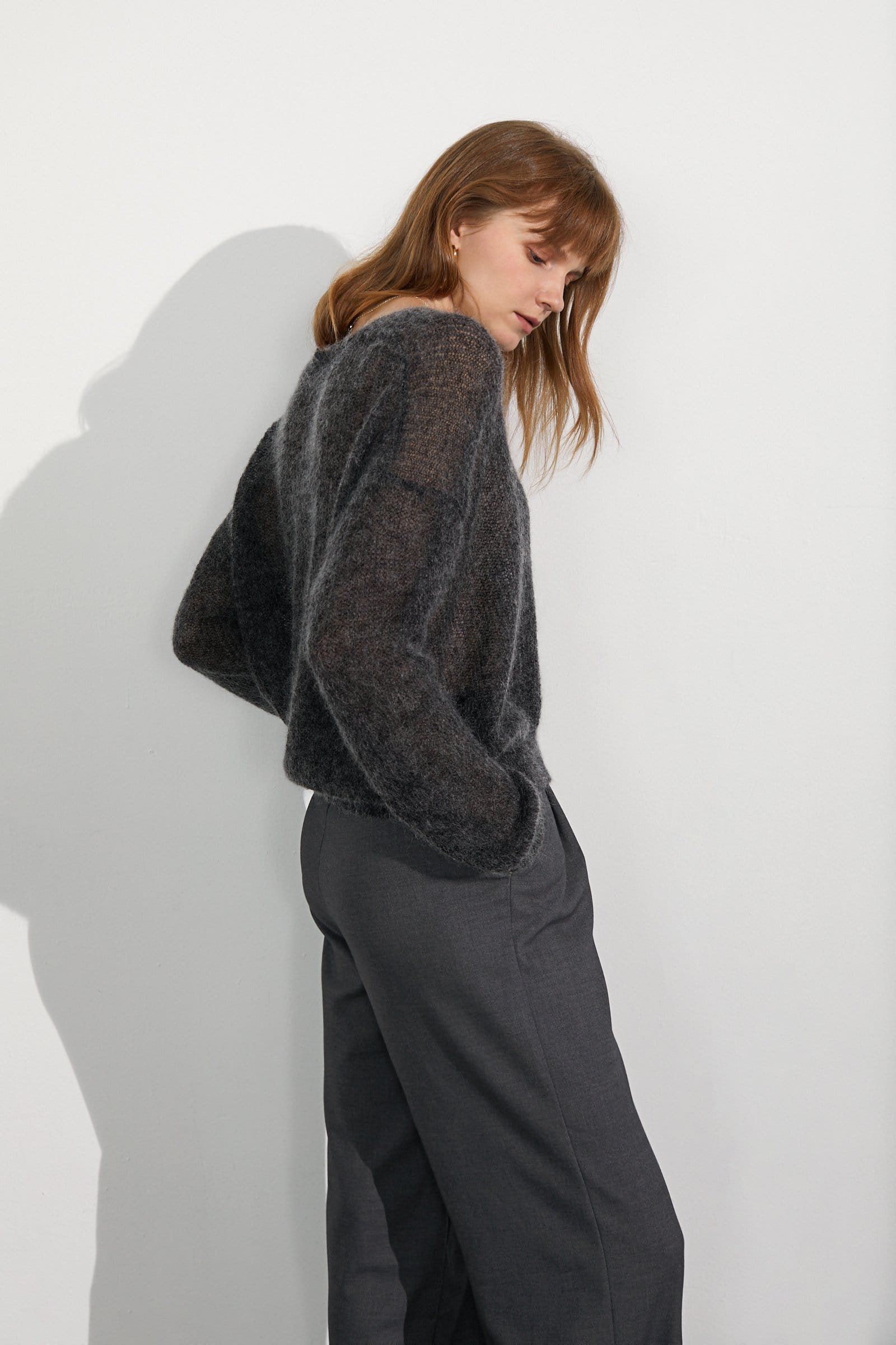 Cozy Charcoal Marled Sweater