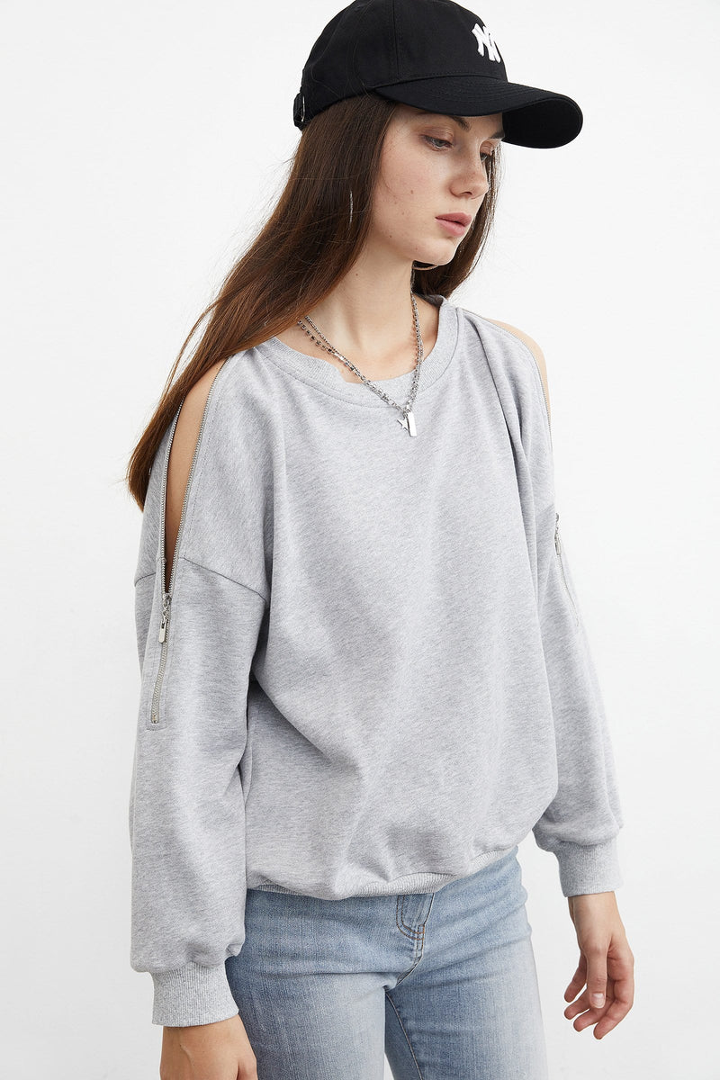 Essential Grey Zip Sweatshirt