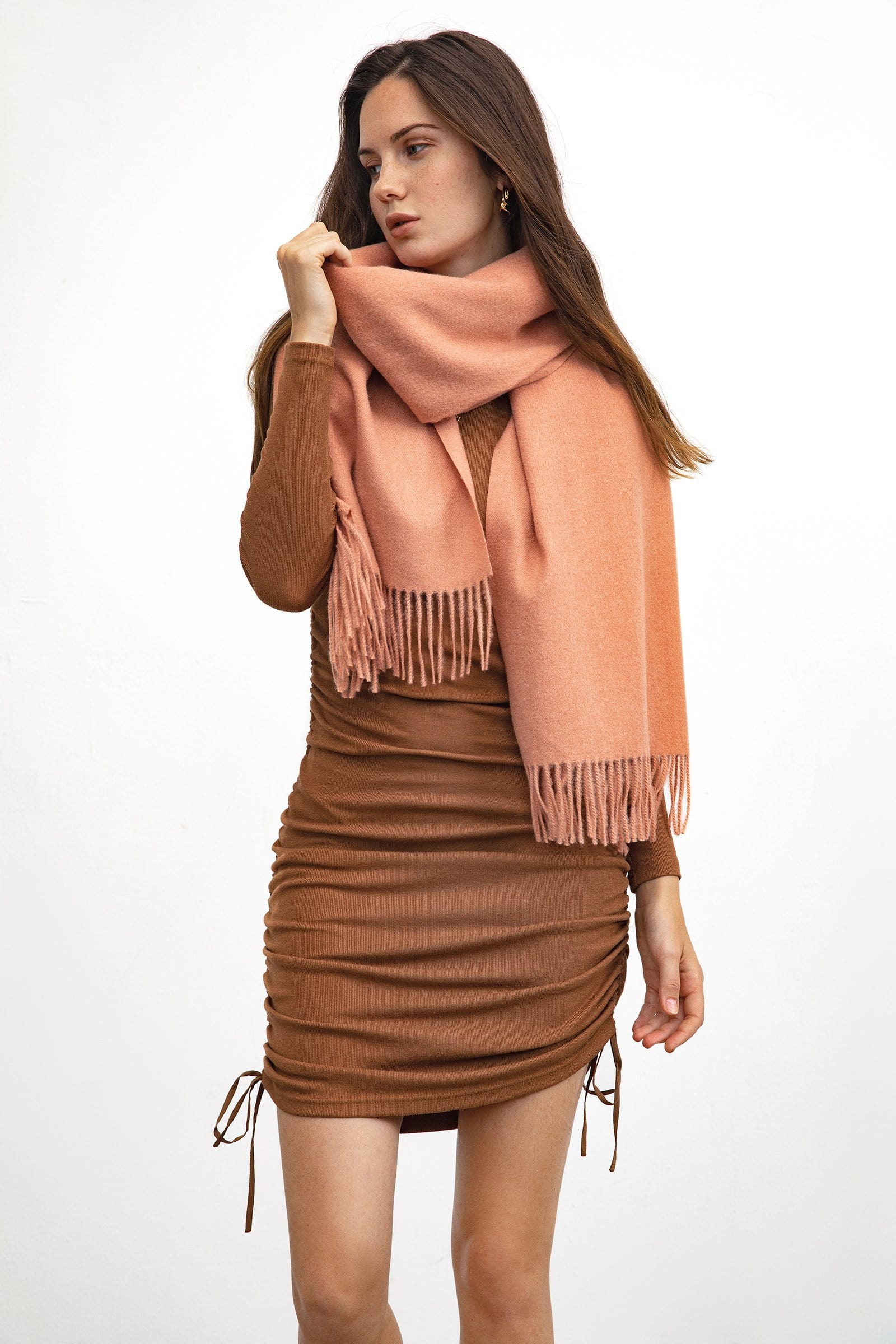 Coral Long Scarf