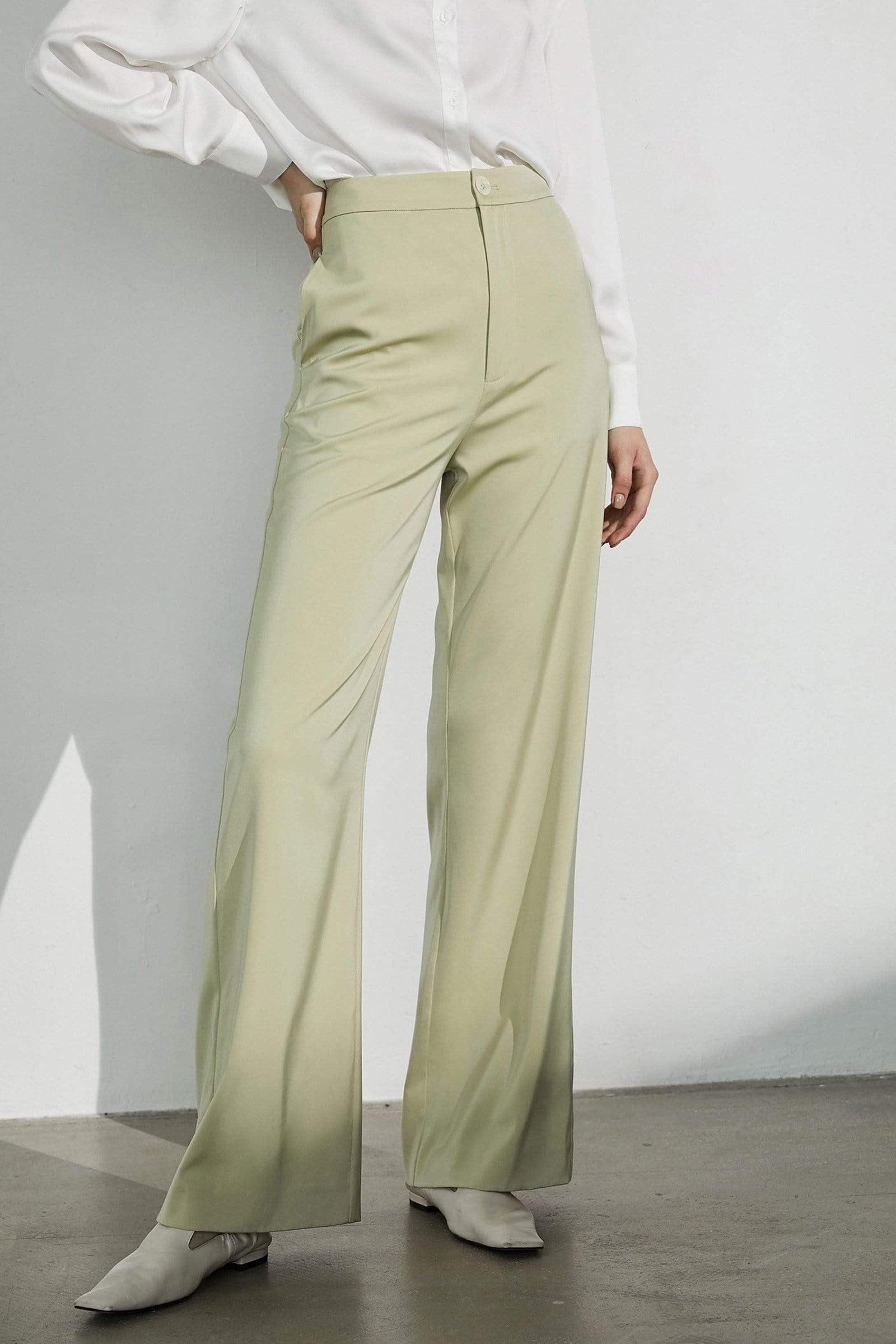 Business Essential Pistachio Trousers