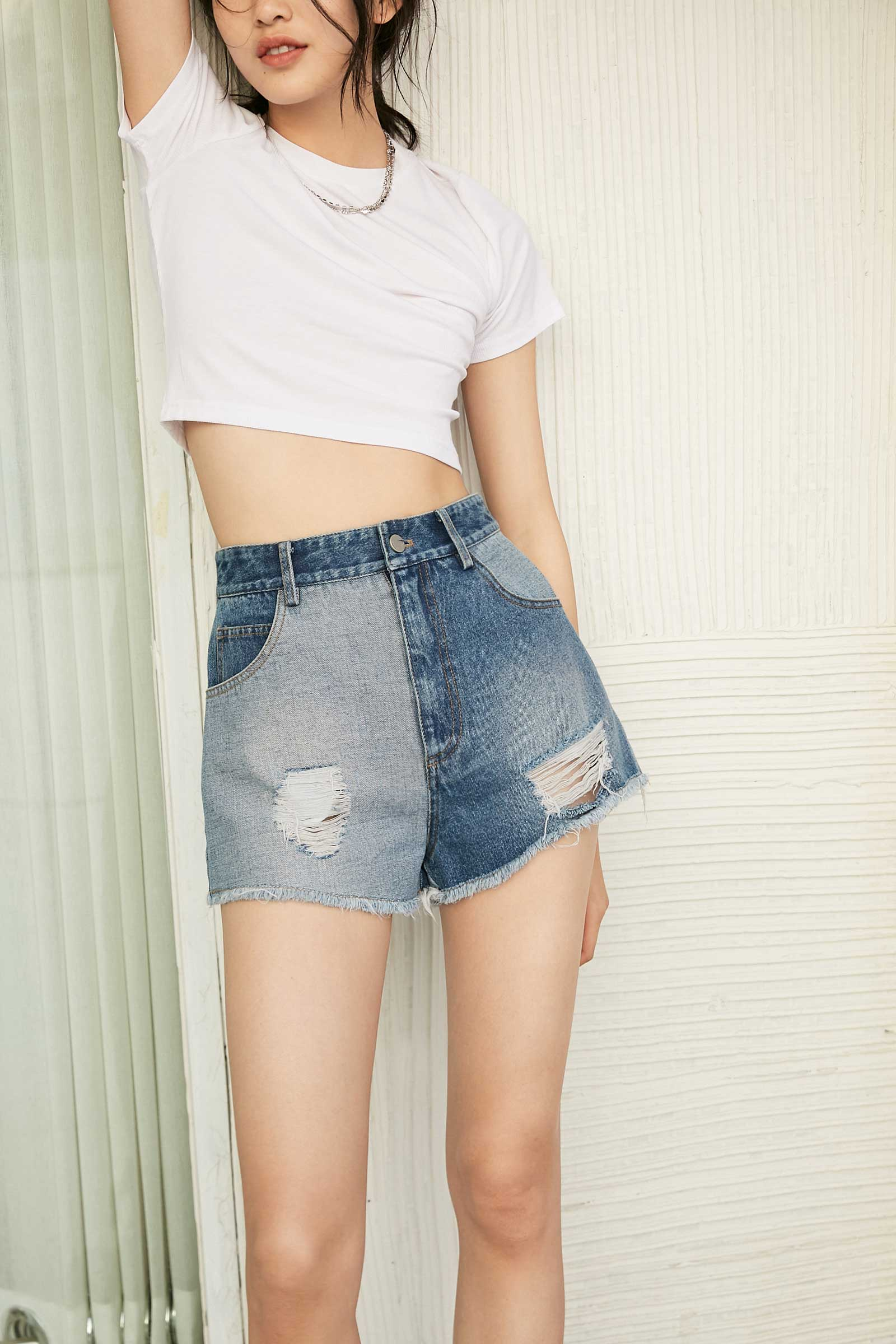 Blake Denim Distressed Shorts