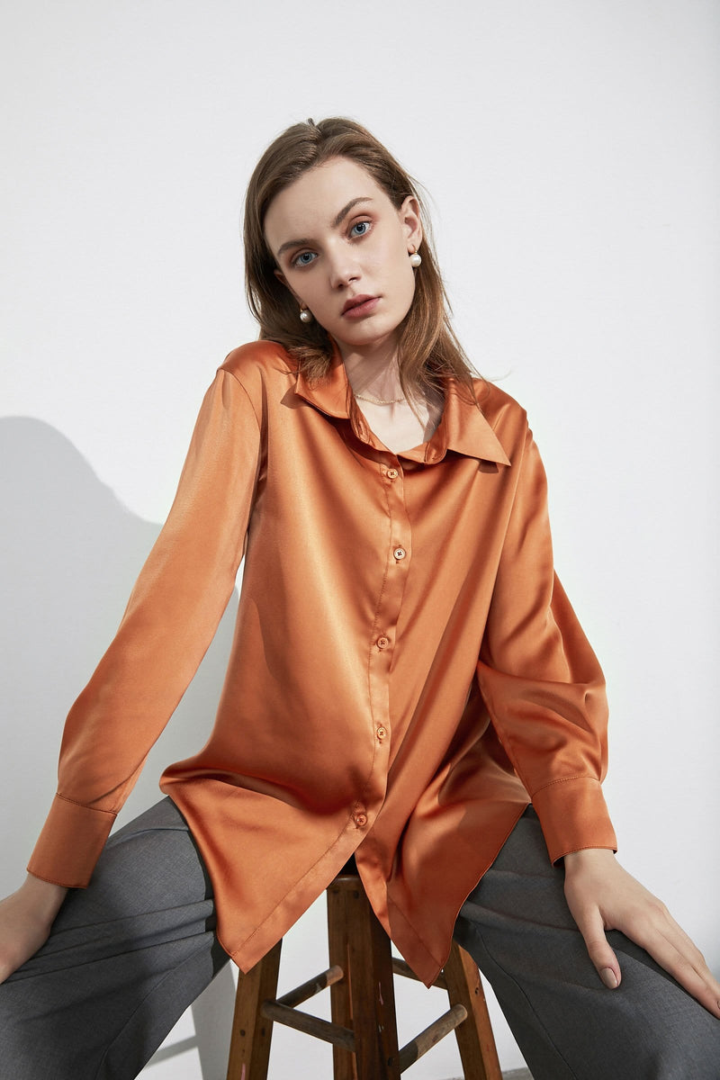 Business Essential Rust Silky Blouse