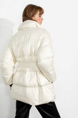 Wellington White Puffer Coat