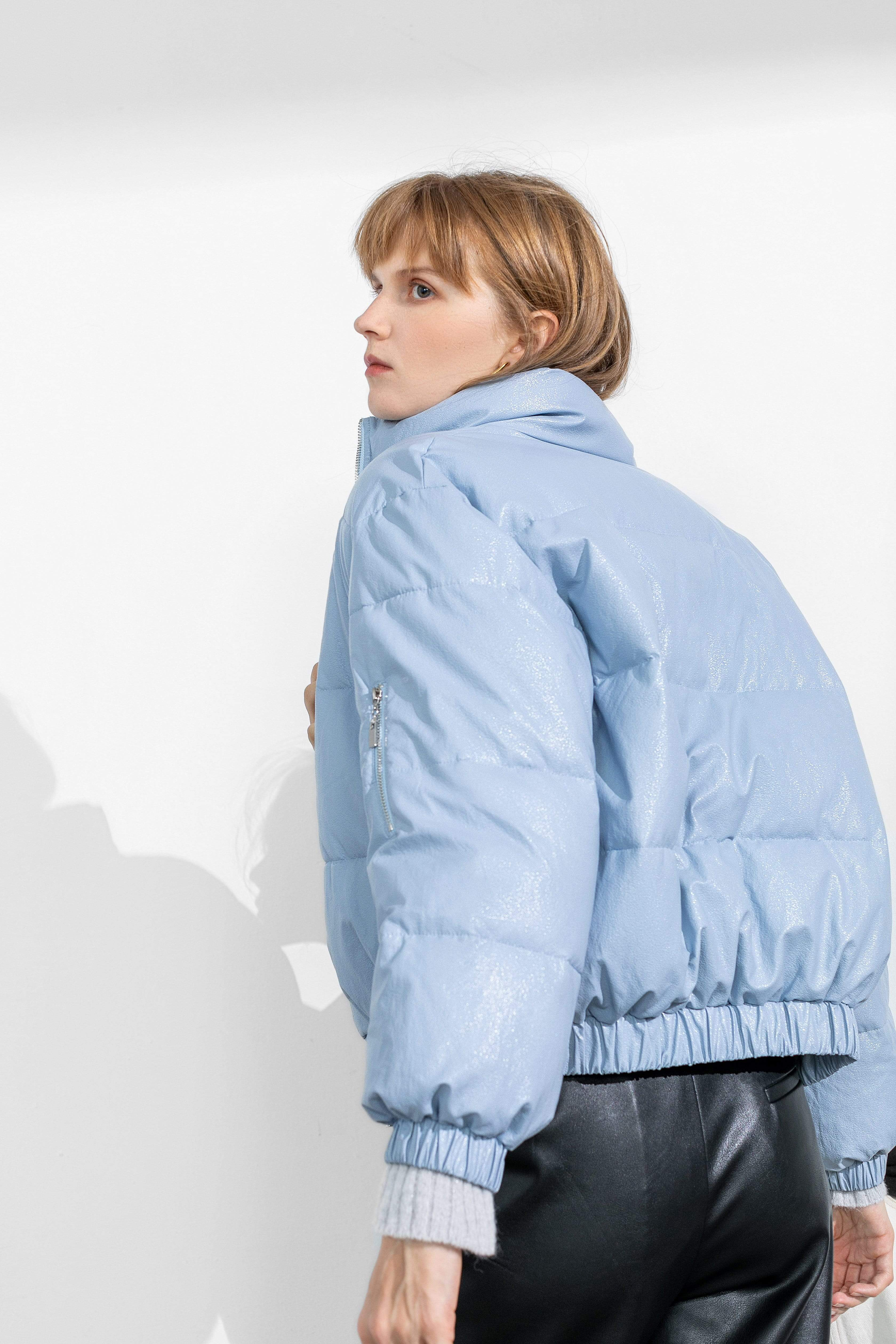 Slick Blue Puffer Jacket
