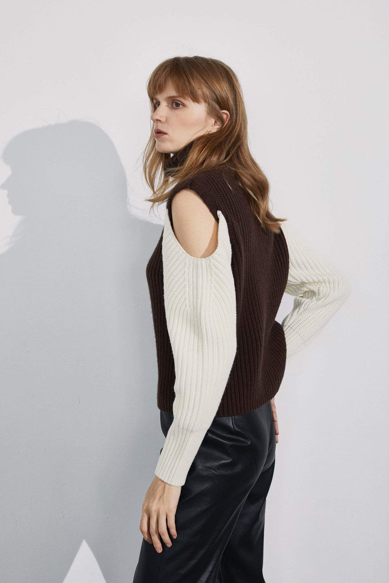 Noelle Cutout Shoulder Sweater