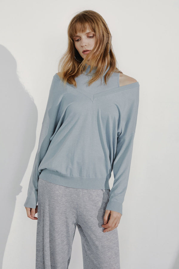Niva Steel Cutout Shoulder Sweater