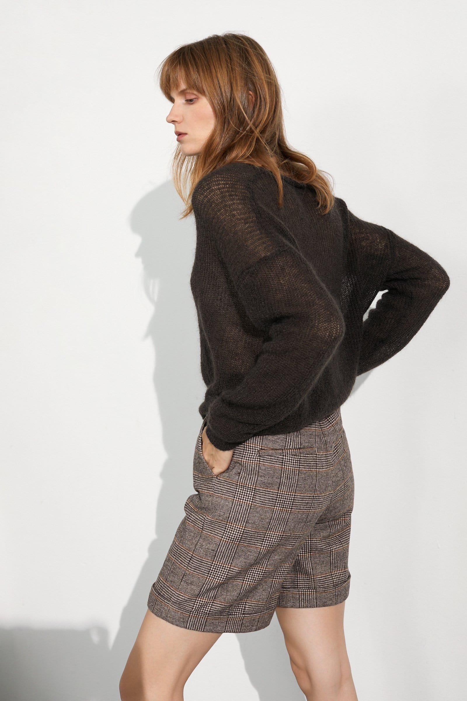 Cozy Chocolate Marled Sweater