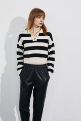 Hasser Black Striped Sweatshirt