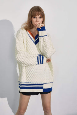 Mickey Colorblock Oversized Sweater