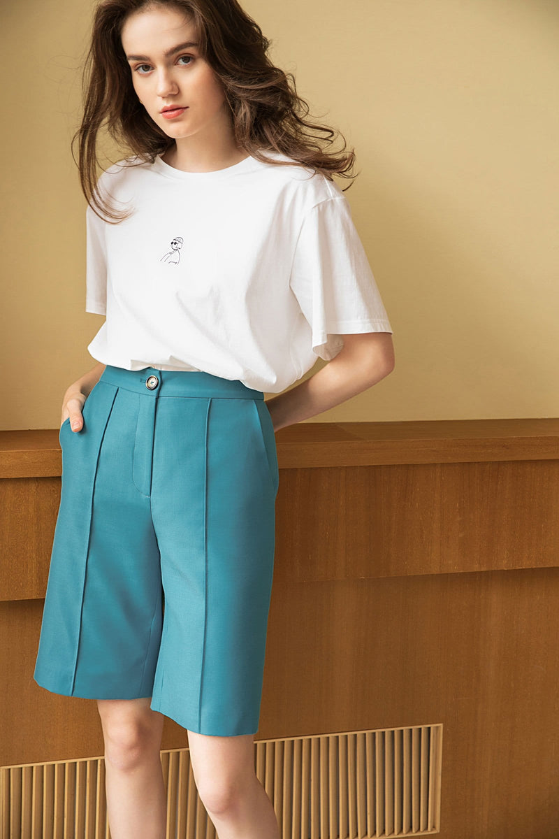 Burlington Teal Bermuda Shorts