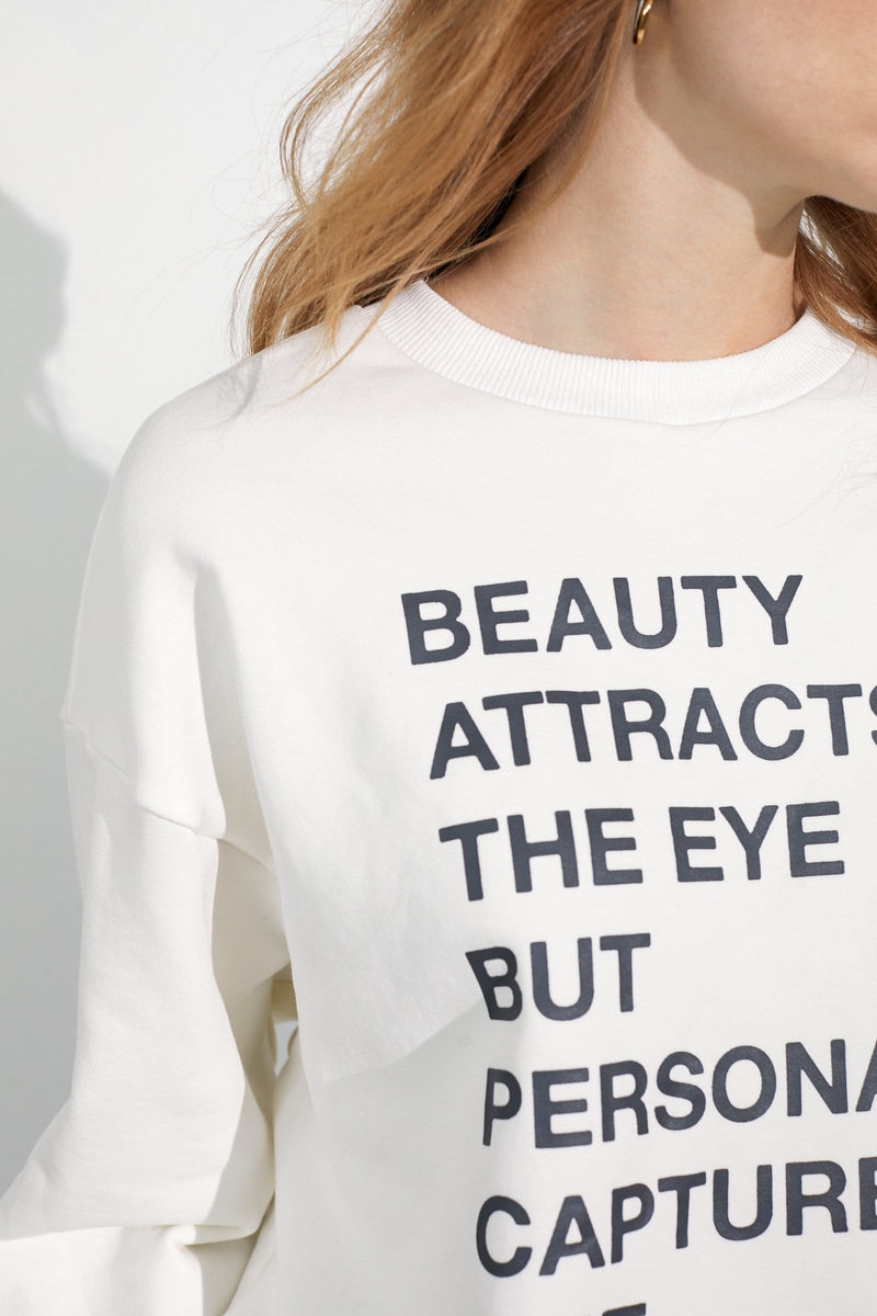 Eye and Heart White Sweatshirt